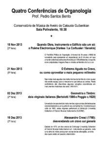 QuatroConferencias Cartaz